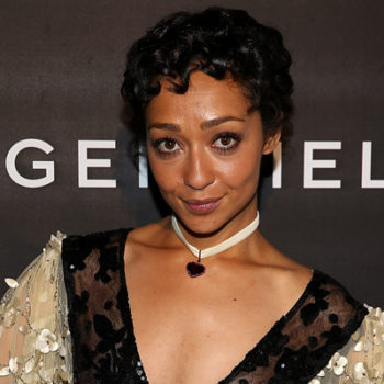 Ruth Negga is all wrapped up in a bow in this beautiful dress
