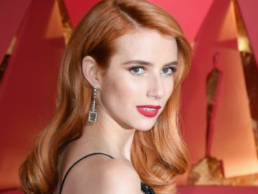 "Emma Roberts is copying her aunt Julia Robert's ""skunk"" look on the Oscars red carpet"