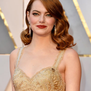 Emma Stone looks like a guest at a Gatsby-themed party in her flapper Oscars gown