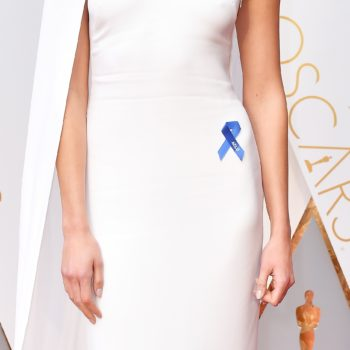 What is the blue ribbon everyone is wearing at the Oscars? It's everywhere tonight for a very good cause