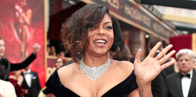 Taraji P. Henson was a blue velvet bombshell on the Oscars red carpet