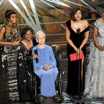 "The cast of ""Hidden Figures"" brought the real Katherine Johnson on stage, and no you're crying"
