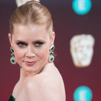 Amy Adams' plunging silver Oscars dress is old-school Hollywood glam to the max
