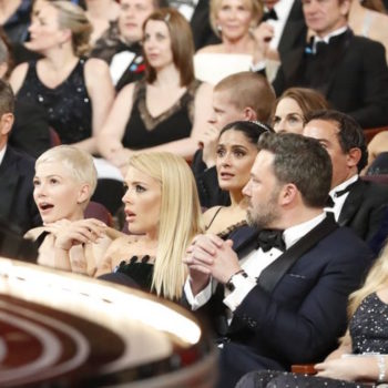 This picture of the Oscar crowd the moment the Best Picture mixup happened is like a Renaissance painting