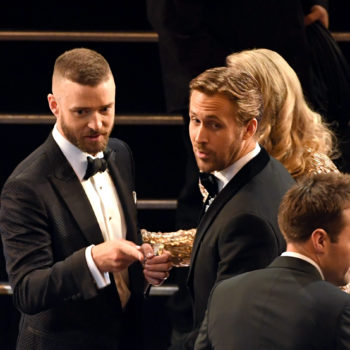"Best bromance of the Oscars: ""Mickey Mouse Club"" stars Ryan Gosling and Justin Timberlake"