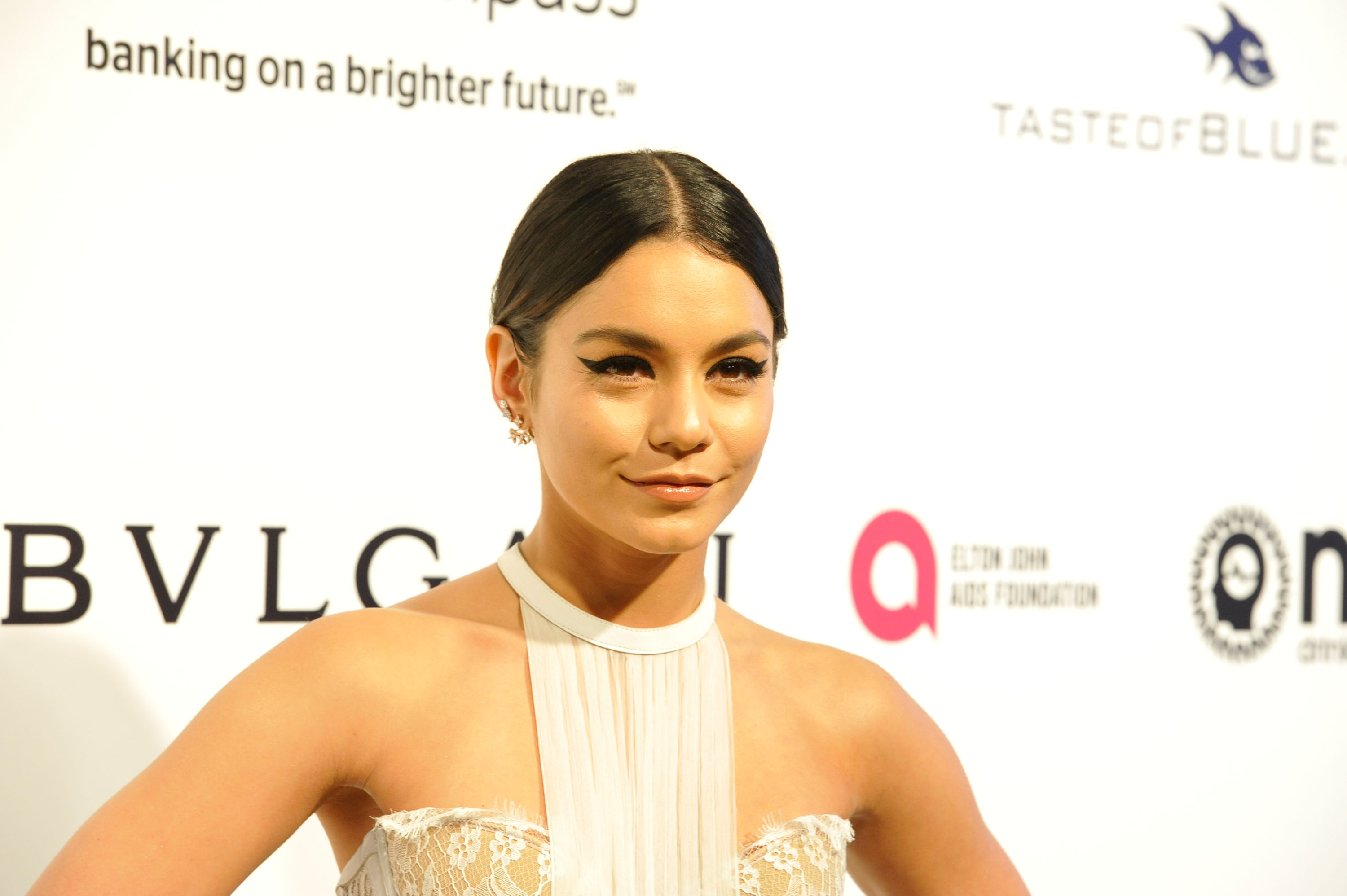 Vanessa Hudgens' Oscars dress looked like bridal lingerie, but she totally pulled it off