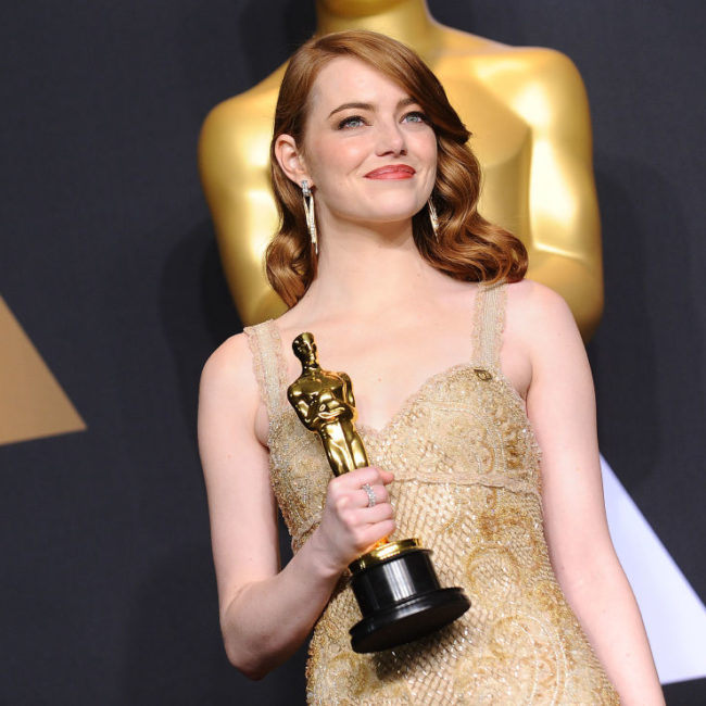 You probably didn't notice this tiny — but powerful — detail on Emma Stone's Oscars dress