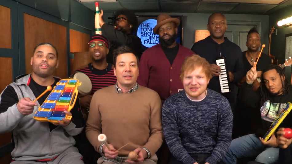 "Ed Sheeran performing ""Shape of You"" on classroom instruments is the highlight of our day"