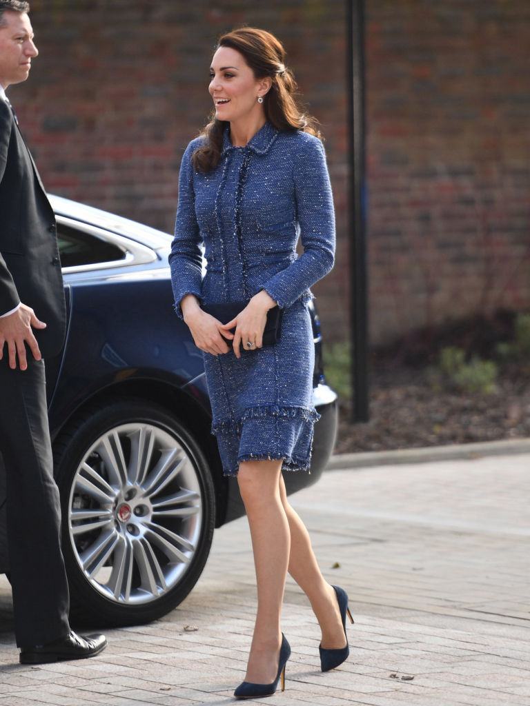 Image result for kate middleton blue tweed suit