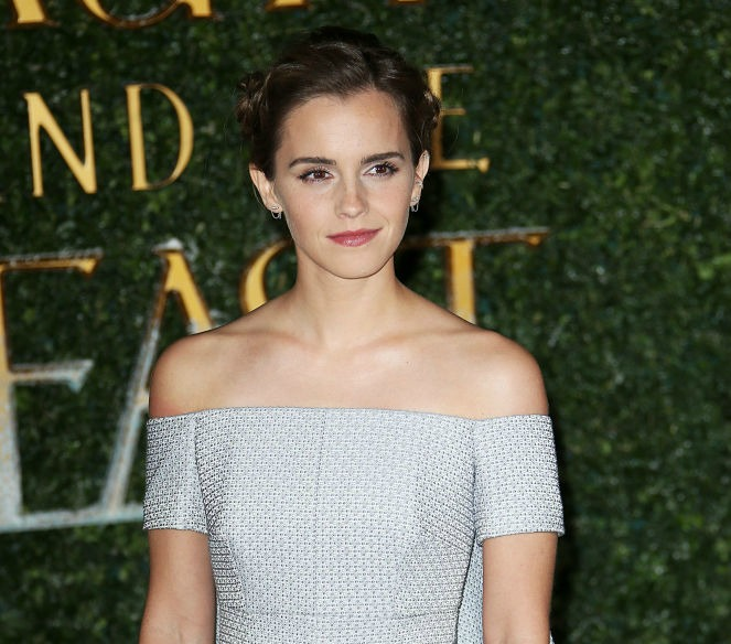 "Emma Watson wore a rose braid in her hair at a ""Beauty and the Beast"" event and we didn't even notice"