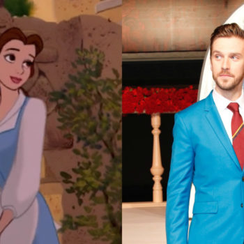 "Dan Stevens is lowkey copying Belle's iconic looks on the ""Beauty and the Beast"" red carpet"