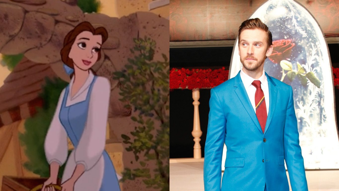"""Dan Stevens is lowkey copying Belle's iconic looks on the """"Beauty and the Beast"""" red carpet"""