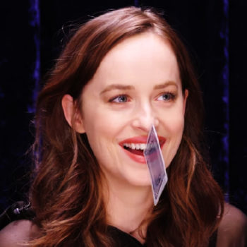 "Dakota Johnson proved that gap teeth can be extremely functional during her ""Secret Talent Theatre"" video"