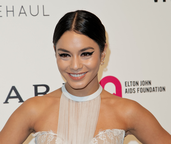 Here's where you can get a rose gold metallic jacket like Vanessa Hudgens