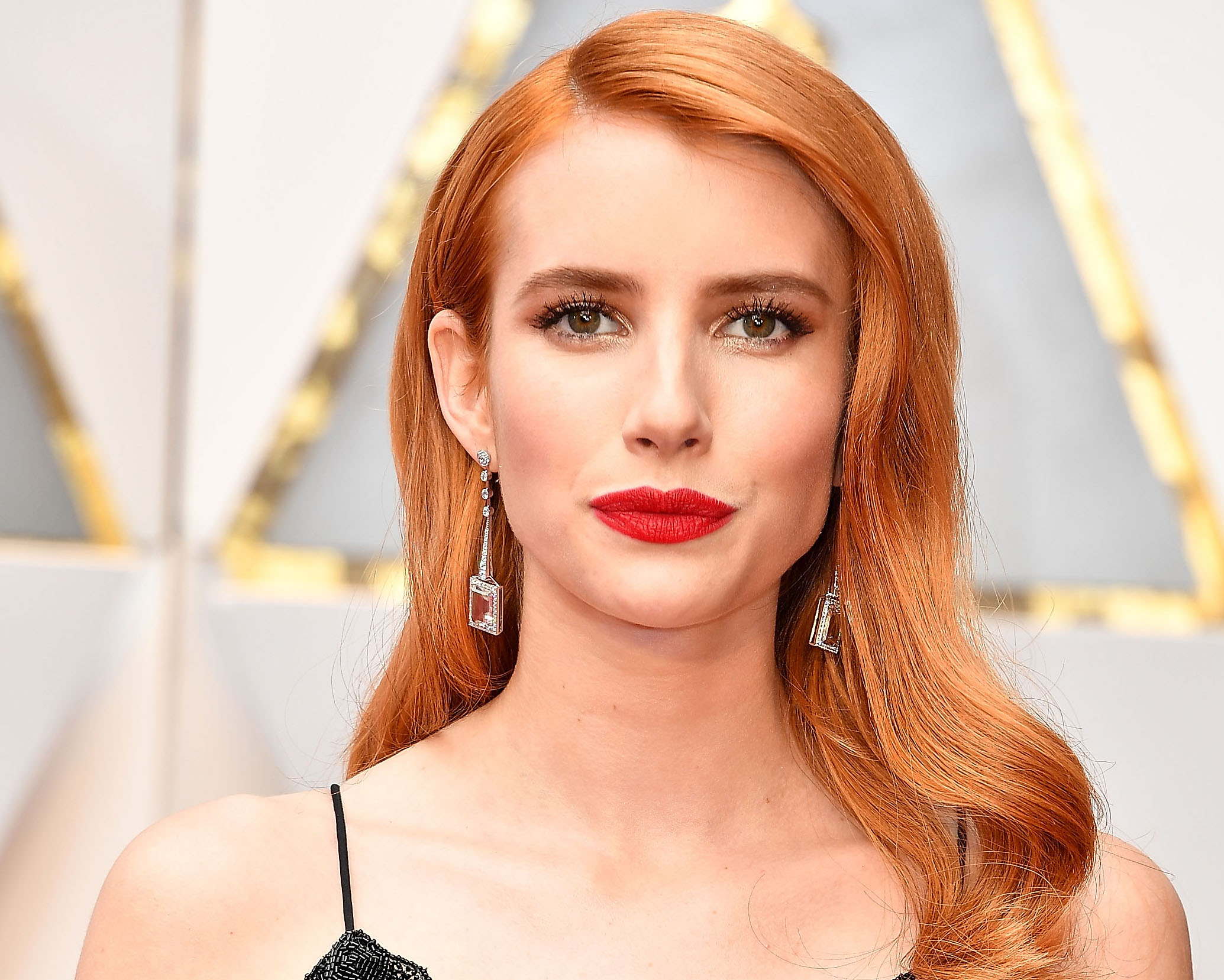 Emma Roberts wore an airport turtleneck with the cutest collar imaginable
