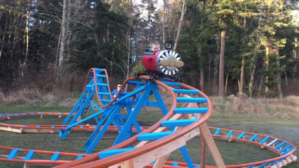 This toddler got his own backyard roller coaster, and ugh, we're so jealous