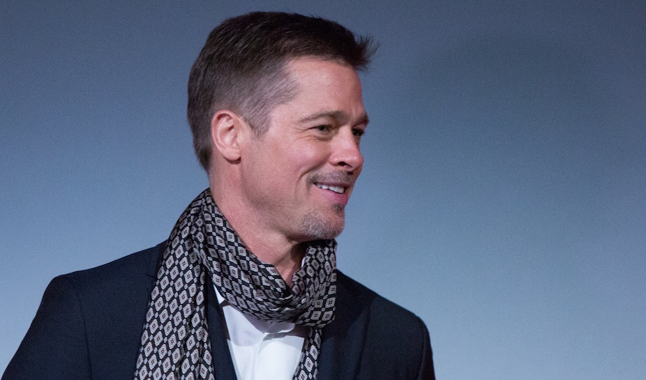 We now know what Brad Pitt looks like with completely gray hair