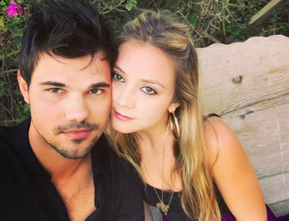 Billie Lourd and Taylor Lautner are evidently not afraid to wear a matching couples' outfit