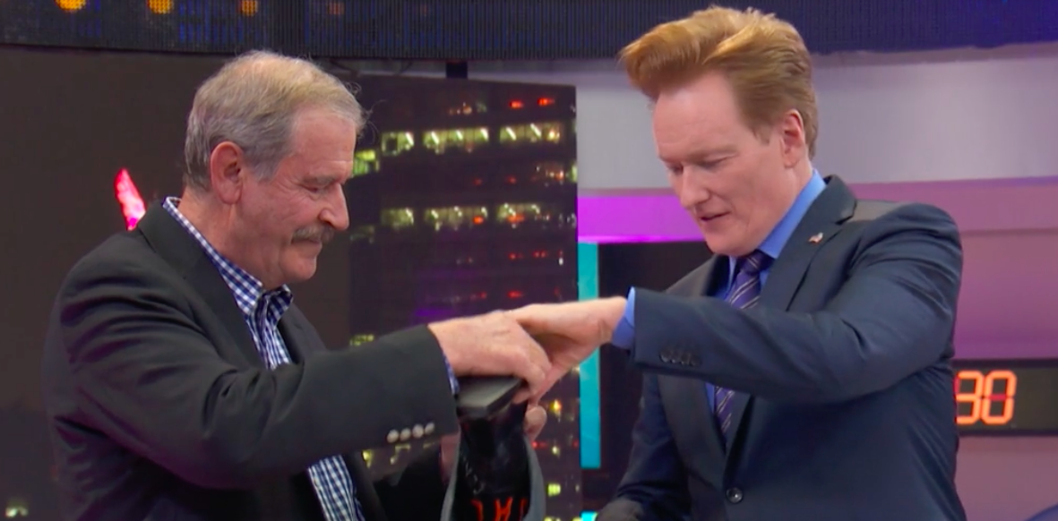 Mexico's former president gave Conan O'Brien a hilarious gift on his TBS special