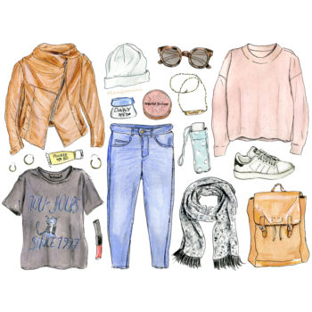 Your in-between weather wardrobe, illustrated