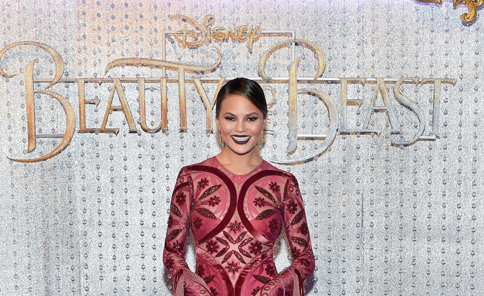 "Chrissy Teigen showed up to the ""Beauty and the Beast"" premiere as one of the lesser known characters from the movie"