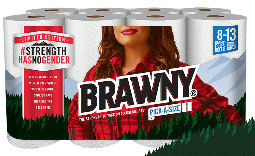 The iconic Brawny man is being replaced by a woman for an empowering reason