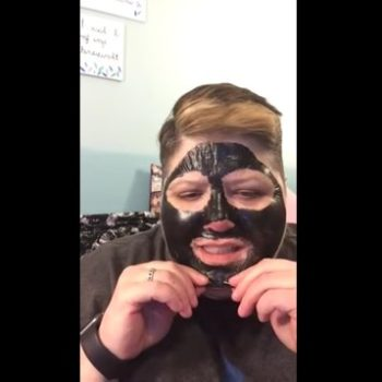 Watch this woman peel off a charcoal mask, feel her pain through your screen