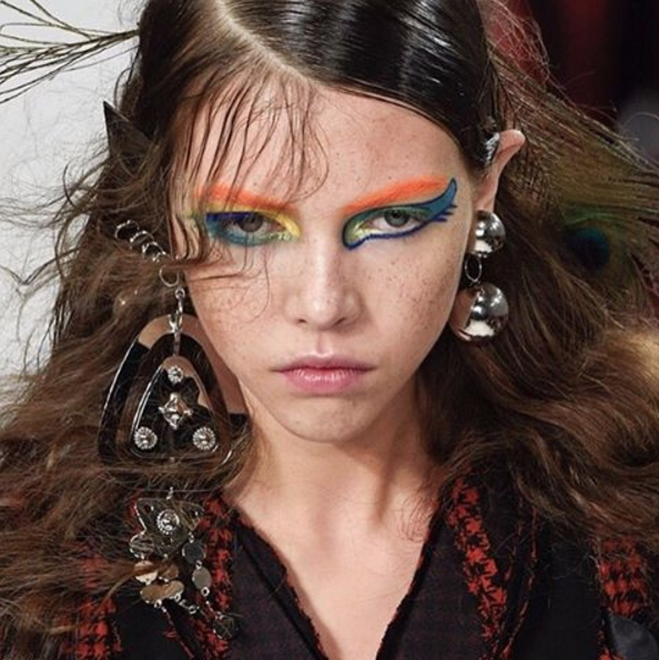 This rainbow unicorn-inspired makeup from Fashion Week will make you rethink everything you know about colored eyeliner
