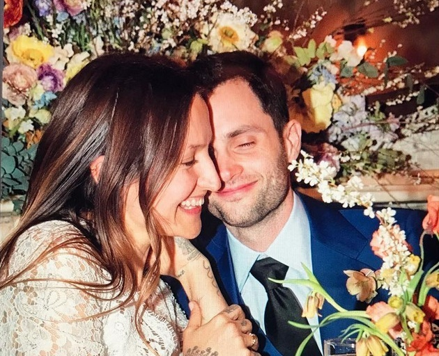 Penn Badgley's vegan wedding cake is pretty enough for anyone to eat