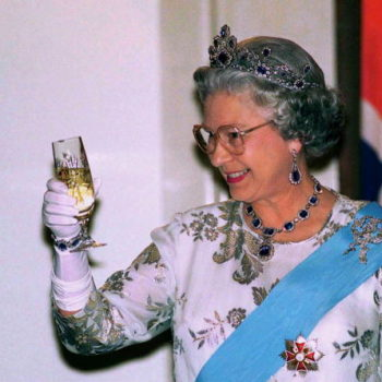 "Yass Kween: Queen Elizabeth ends every day with a glass of champagne, bringing royal context to ""treat yo'self"""