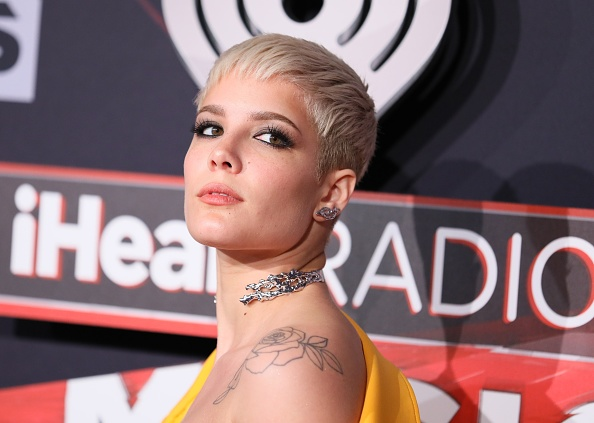 Halsey literally wore a belt as a shirt to the iHeartRadio Music Awards