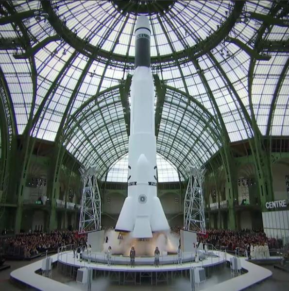 Chanel blasted an actual rocket ship at Paris Fashion Week, and it was very dope