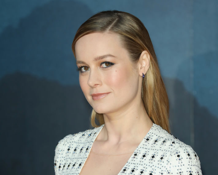 Brie Larson wore a belt-covered dress that has us ready to hop into spring