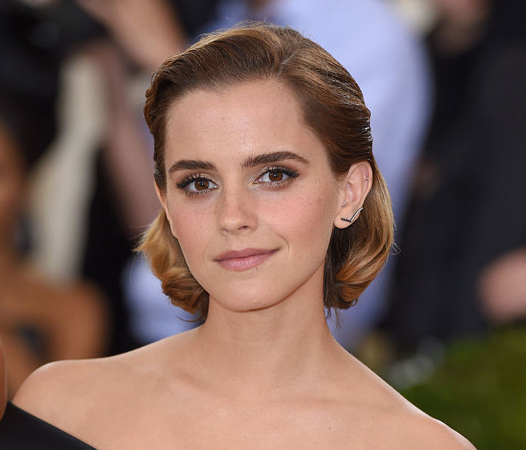 Emma Watson's debonair pantsuit look is giving off strong Hillary Clinton vibes