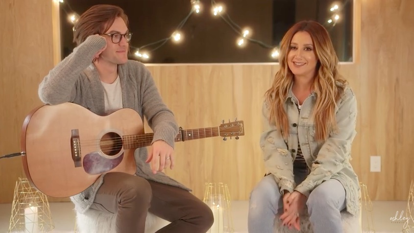 """Ashley Tisdale and her husband filmed the most adorable couples cover of """"Shut Up and Dance"""""""