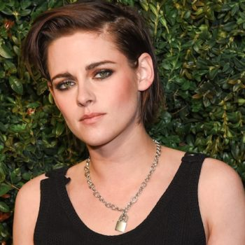Kristen Stewart just debuted a bleached blonde buzz cut, and yes, it looks totally badass