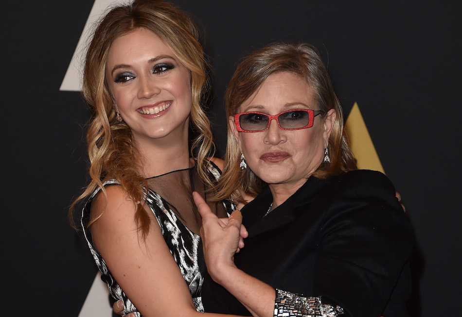 Billie Lourd beautifully paid tribute to her mom, Carrie Fisher, on International Women's Day