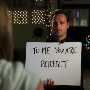 """Here's a glimpse of a much older Andrew Lincoln holding up *those* cue cards in the """"Love Actually"""" sequel"""