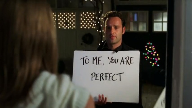 "Here's a glimpse of a much older Andrew Lincoln holding up *those* cue cards in the ""Love Actually"" sequel"