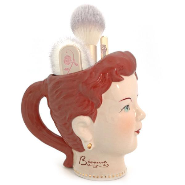 Bésame's brand new vintage-inspired brush holder will add some pizzazz to your vanity