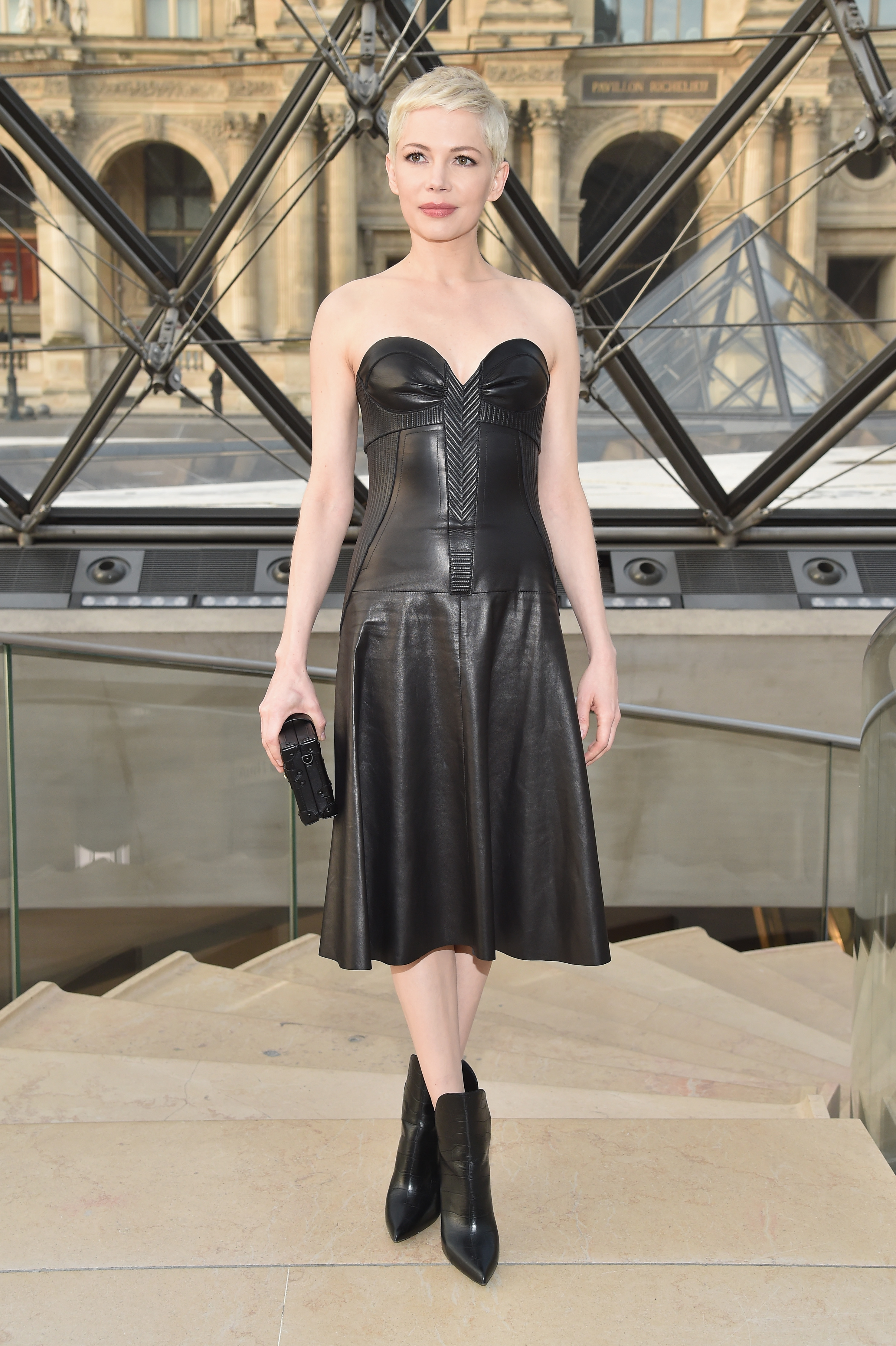 Michelle Williams Leather Dress Makes Her Look Like A