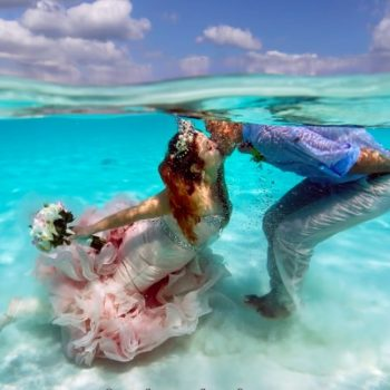 This couple had an actual mermaid wedding, and all our dreams just came true
