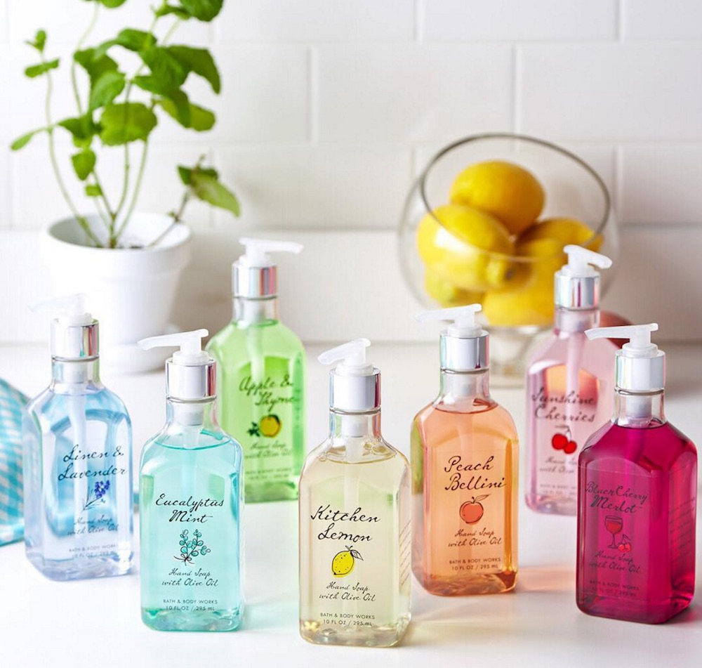 Bath and Body Works launched adorable rainbow hand soaps that are infused with olive oil