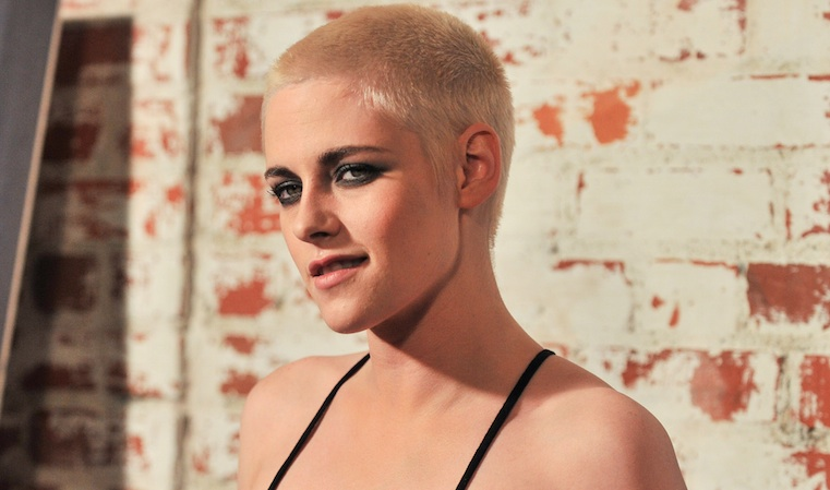 Kristen Stewart looks like a mermaid with a buzz cut in her turtleneck gown