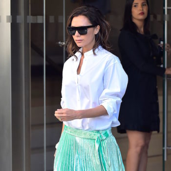 Victoria Beckham is making ballerina pleated skirts a thing