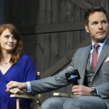 """Chris Pratt and Bryce Dallas Howard saw """"Get Out"""" together, and their reactions are so relatable"""