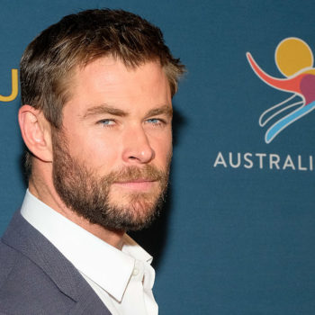 Here's a video of Chris Hemsworth working out like an actual superhero