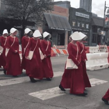 """There are real-life Handmaids from """"The Handmaid's Tale"""" at SXSW, and they're super creepy"""