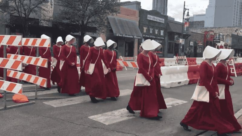 "There are real-life Handmaids from ""The Handmaid's Tale"" at SXSW, and they're super creepy"