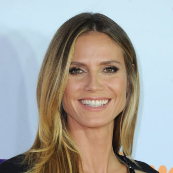 Heidi Klum's cut-out gown looks like a high-fashion arts and crafts project